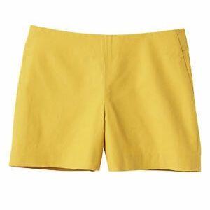 NWT 6 yellow banana republic  high waisted shorts